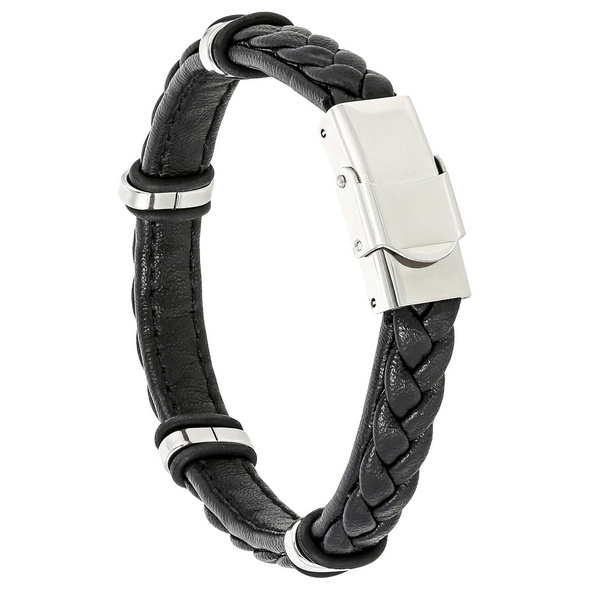Herren Armband - Black Stainless Steel