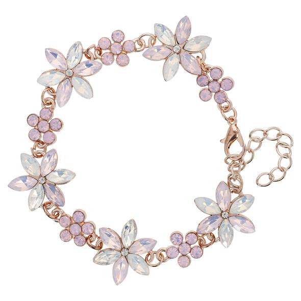 Armband - Purple Flower