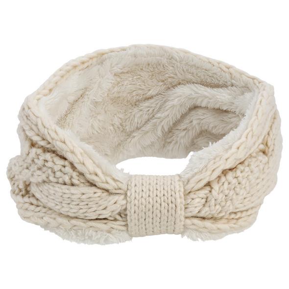 Stirnband  - Creme Knit