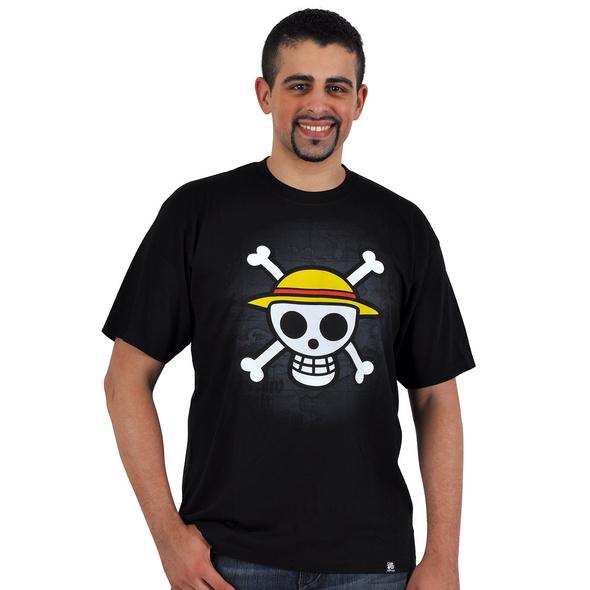 One Piece - Skull With Map T-Shirt schwarz