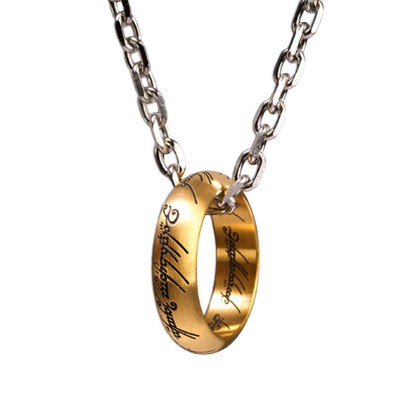 Herr der Ringe - Der Eine Ring an Kette Edelstahl