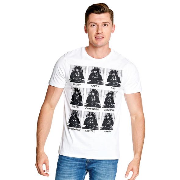 Star Wars - Darth Vader Multiface T-Shirt weiß