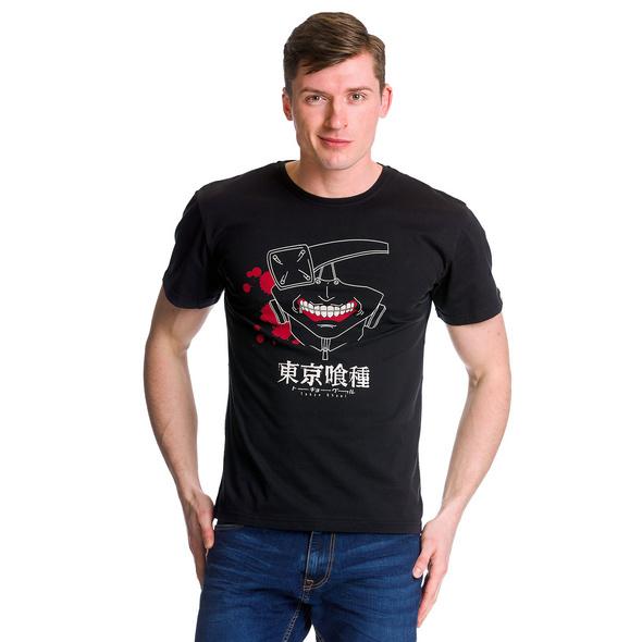Tokyo Ghoul - Kaneki Mask T-Shirt schwarz
