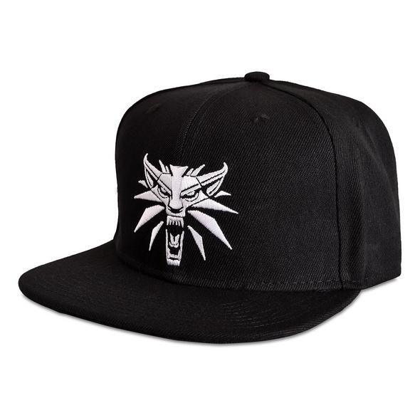 Witcher - Wolf Medaillon Snapback Cap schwarz