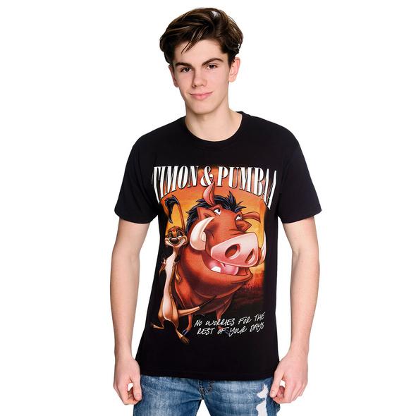 König der Löwen - Timon & Pumbaa T-Shirt schwarz