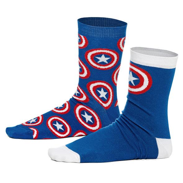 Captain America - Shield Logo Socken 2er Set