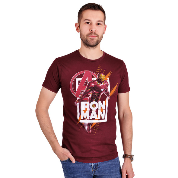 Avengers - Iron Man Fly T-Shirt rot