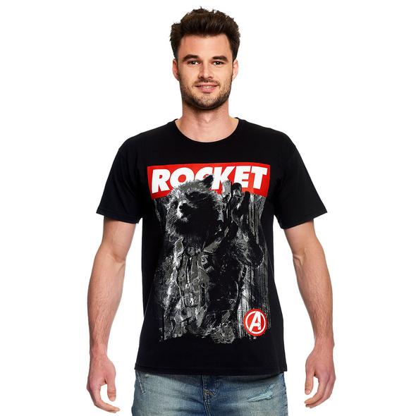 Avengers - Rocket Raccoon T-Shirt schwarz