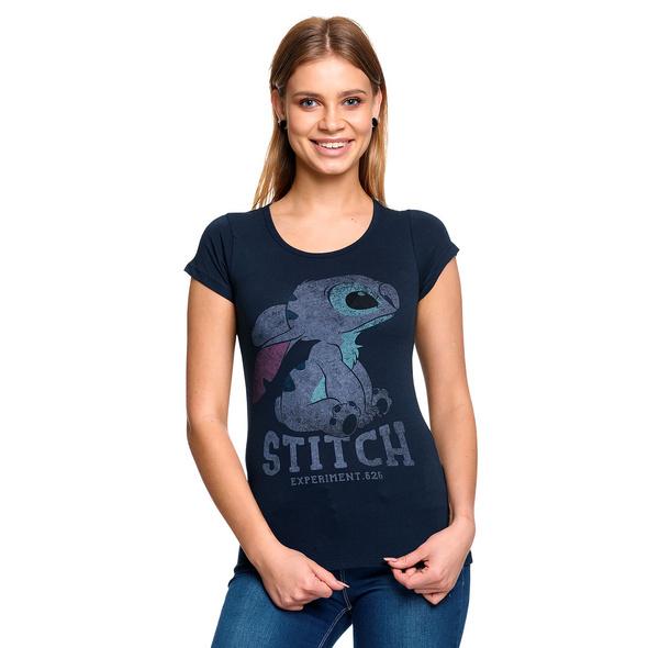 Lilo & Stitch - Stitch T-Shirt Damen blau