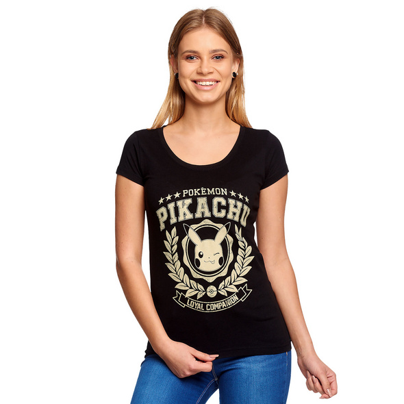 Pokemon - Pikachu Loyal Companion T-Shirt Damen schwarz