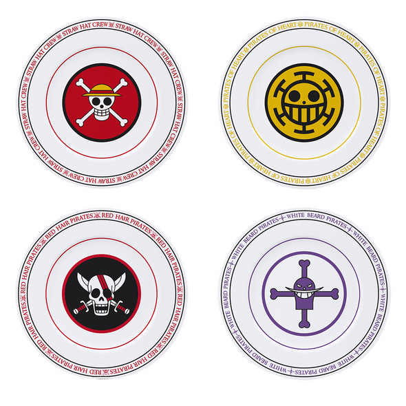 One Piece - Piratenbanden Logos Tellerset