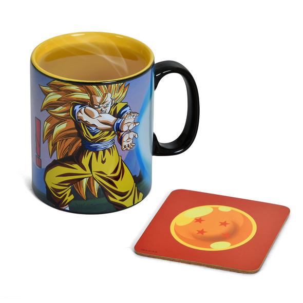 Dragon Ball Z - Goku Kamehameha Thermoeffekt Tasse mit Untersetzer