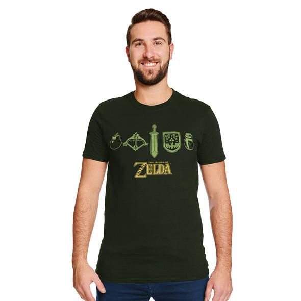 Zelda - Icons T-Shirt grün