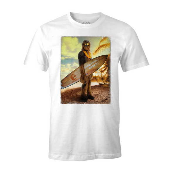 Star Wars - Wookiee Surfer T-Shirt weiß