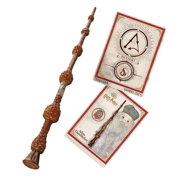 Harry Potter - Dumbledore Zauberstab mit Zauberspruchkarte