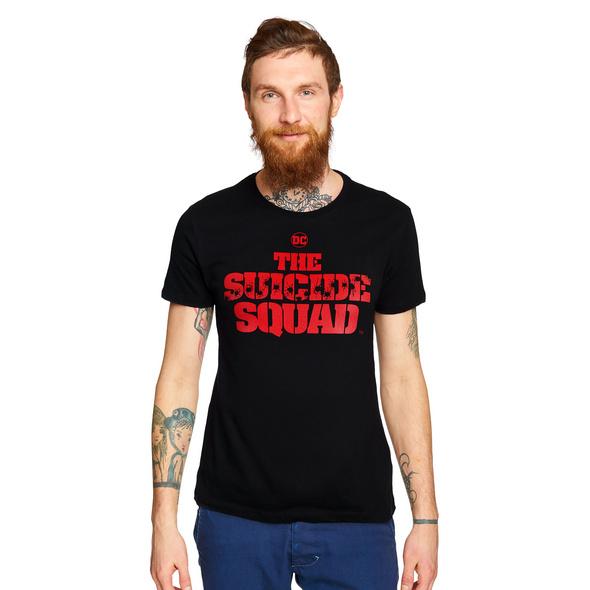 Suicide Squad - Shot Logo T-Shirt schwarz