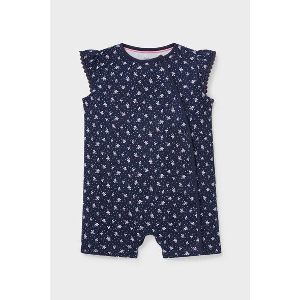 Baby-Schlafanzug - Bio-Baumwolle - geblümt