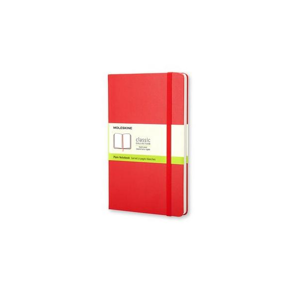Moleskine Notizbuch, Large/A5, Blanko, Fester Einband, Rot