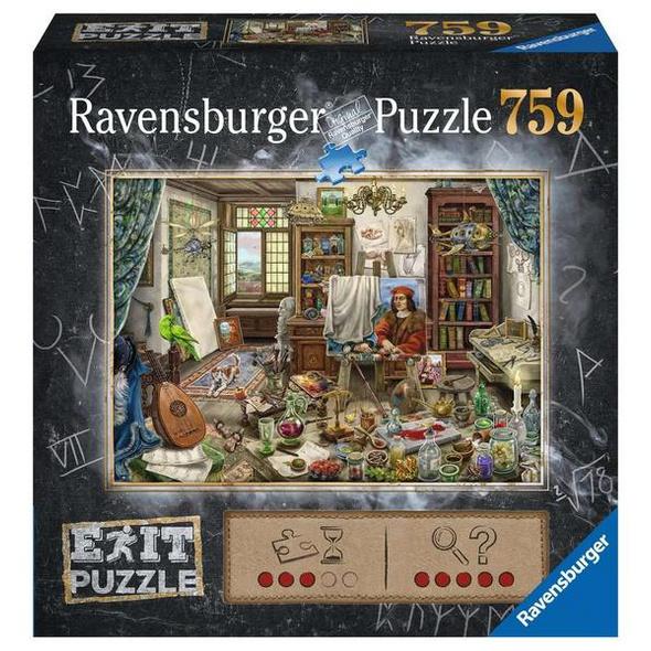 Ravensburger 16782 - Exit, Das Künstleratelier, Rätsel-Puzzle,