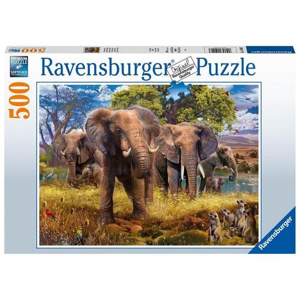Ravensburger 15040 - Elefantenfamilie, Puzzle,