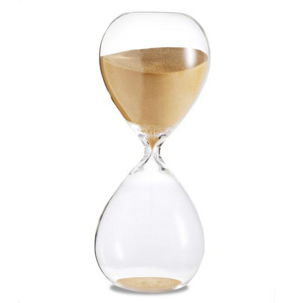 Sanduhr 'Time Out' 10 Minuten, gold