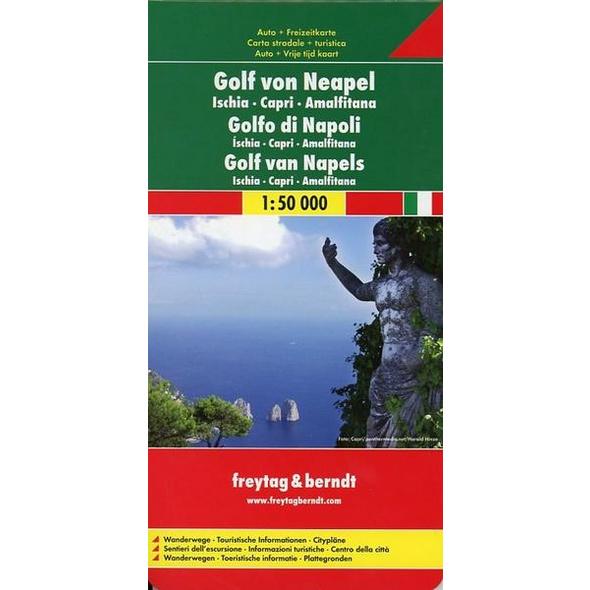 Golf von Neapel - Ischia - Capri - Amalfitana 1 : 50 000 Autokarte