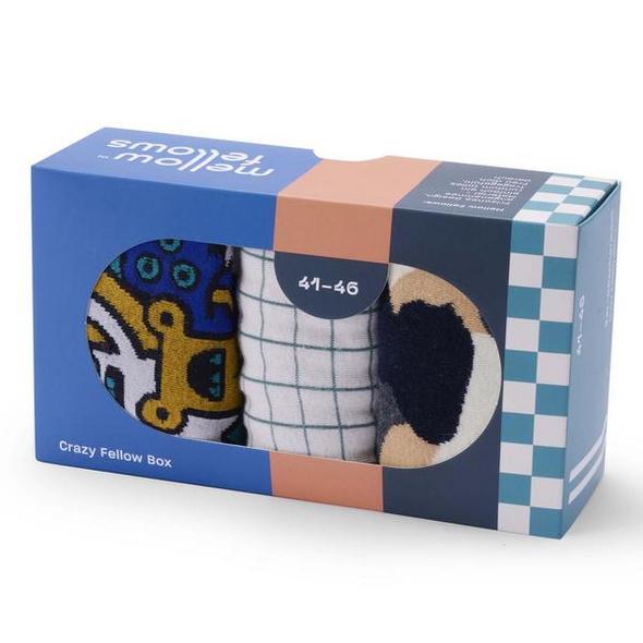 Socken 'Crazy Fellow Box', Größe 41 - 46, 3er Pack