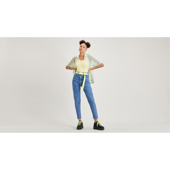 High-Waisted Taper Mom Jeans