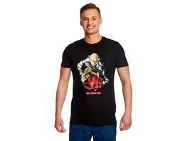One Punch Man - Saitama T-Shirt schwarz