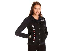 Alice im Wunderland - Jeansjacke Damen schwarz