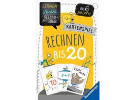 Ravensburger 80349 - Rechnen bis 20, Kartenspiel, Lernen Lachen Selbermachen, Lernspiel
