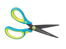 Pelikan Schere griffix Schule, Neon Fresh Blue, Linkshänder, Spitz 15 cm